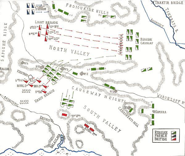 Схема Балаклавского сражения
