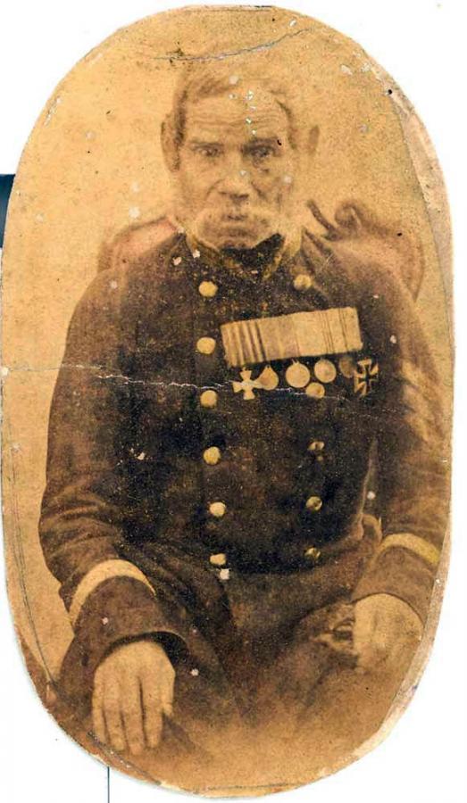 Русский солдат. Фотография 1850-х - начала 1860-х годов